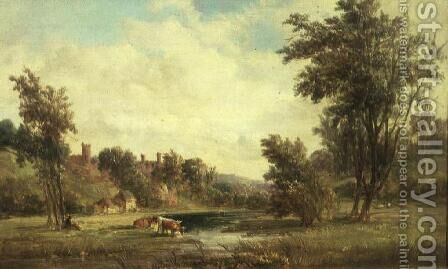 Haddon Hall by Alfred Vickers - Reproduction Oil Painting