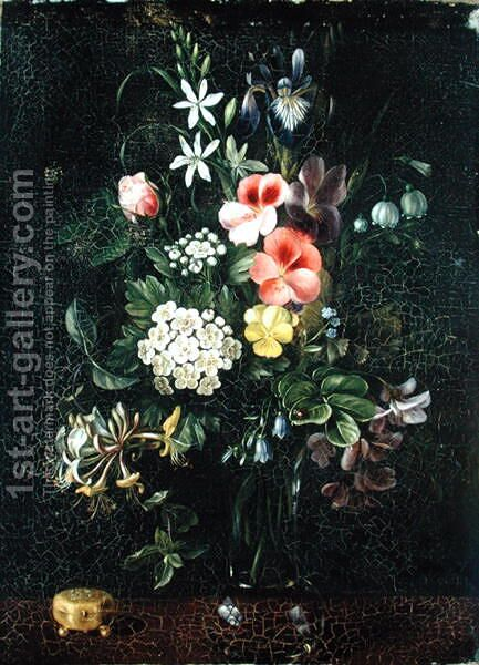 Vase of Flowers, 1775 by A. Viedebant - Reproduction Oil Painting