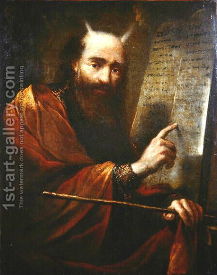 Moses and the Tablets of the Law by Claude Vignon - Reproduction Oil Painting