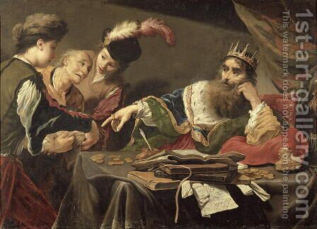 Croesus Receiving a Tribute from a Lydian Peasant, 1629 by Claude Vignon - Reproduction Oil Painting
