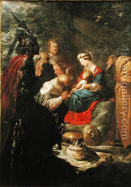 The Adoration of the Magi, c.1619 by Claude Vignon - Reproduction Oil Painting