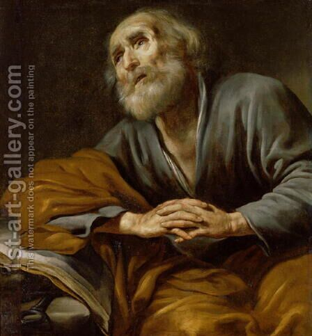 St. Peter Repentant by Claude Vignon - Reproduction Oil Painting