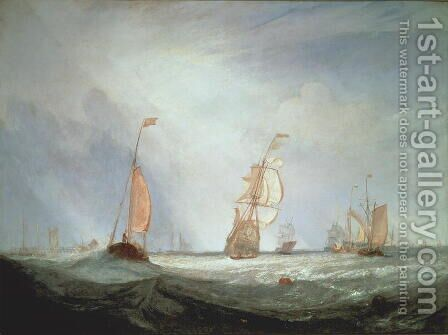 Helvoetsluys ships going out to sea, 1832 by Turner - Reproduction Oil Painting