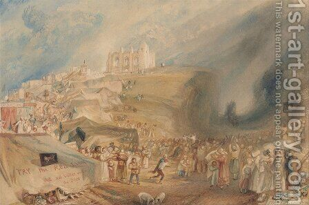 St. Catherines Hill, Guildford, Surrey, 1830 by Turner - Reproduction Oil Painting