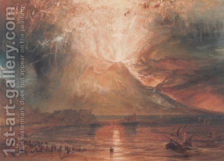 Mount Vesuvius in Eruption, 1817 by Turner - Reproduction Oil Painting