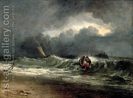 Fishermen upon a lee-shore in squally weather by Turner - Reproduction Oil Painting