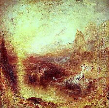 Glaucus and Scylla from Ovids Metamorphoses, 1841 by Turner - Reproduction Oil Painting