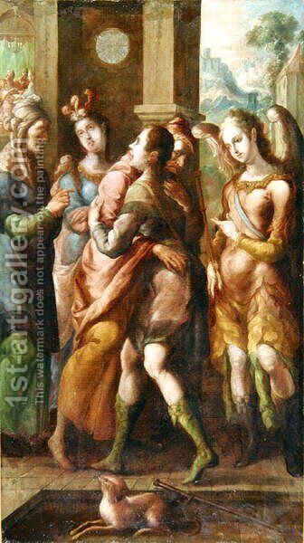 The Return of Tobias by Cristobal de Villalpando - Reproduction Oil Painting