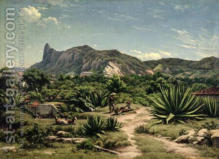 View of Rio de Janeiro, 1869 by Henri Nicolas Vinet - Reproduction Oil Painting