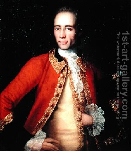 Portrait of Matvey Begichev, 1757 by Ivan Vishnyakov - Reproduction Oil Painting