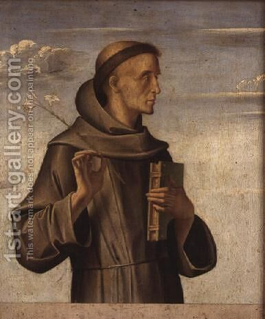 St. Anthony of Padua, 1480 by Alvise Vivarini - Reproduction Oil Painting