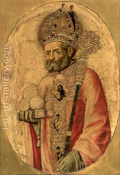 St. Nicholas by Antonio Vivarini - Reproduction Oil Painting