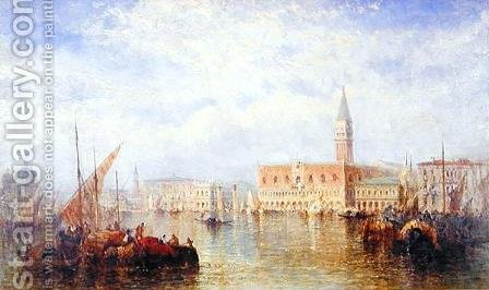 View of the Palazzo Ducale, Venice by J. Vivian - Reproduction Oil Painting