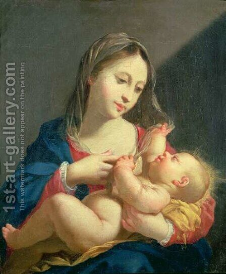 Madonna and Child by Jacob Ferdinand Voet - Reproduction Oil Painting