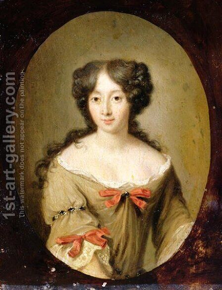 Portrait of Marie-Anne Mancini 1646-1714 c.1670 by Jacob Ferdinand Voet - Reproduction Oil Painting