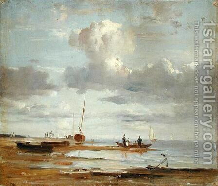 The Elbe at Blankenesee by Adolf Vollmer - Reproduction Oil Painting