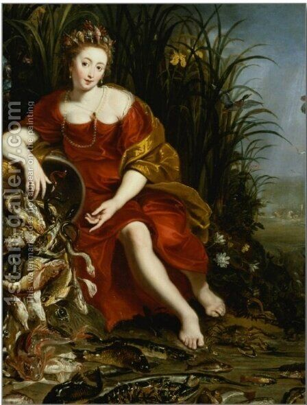 Allegory of Water by Cornelis De Vos - Reproduction Oil Painting