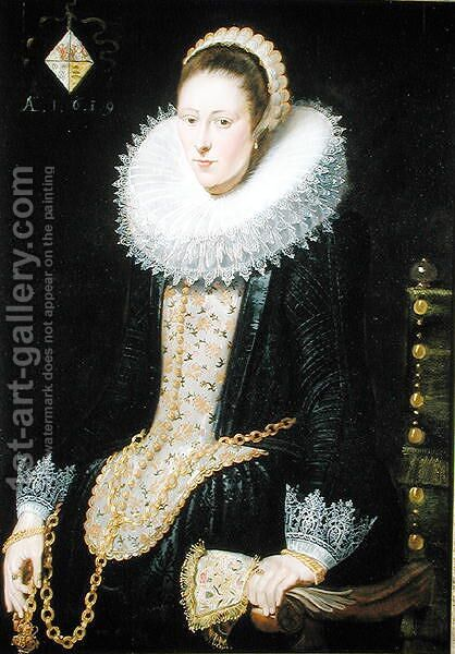 Portrait of a Lady of the Pelgrom Family, 1619 by Cornelis De Vos - Reproduction Oil Painting