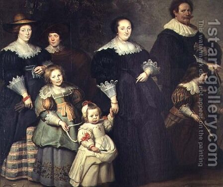 Family Portrait, c.1630 by Cornelis De Vos - Reproduction Oil Painting