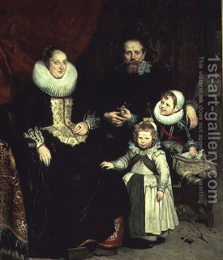 Portrait of the Artist with his Family by Cornelis De Vos - Reproduction Oil Painting