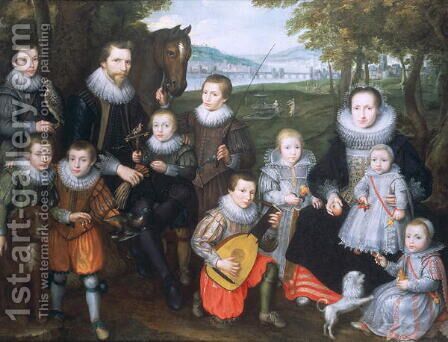 Portrait of a Family Group, c.1630 by Cornelis De Vos - Reproduction Oil Painting