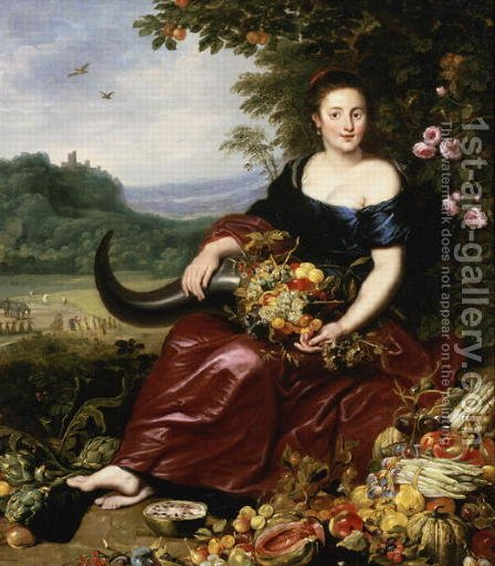Allegory of Earth by Cornelis De Vos - Reproduction Oil Painting