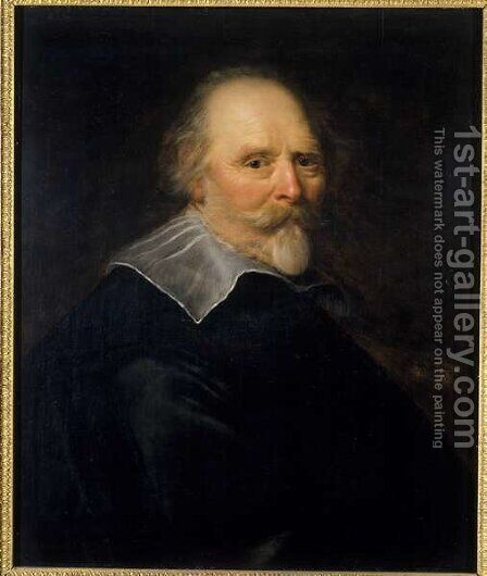 Portrait of an Old Man, 1643 by Abraham de Vries - Reproduction Oil Painting