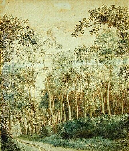 Wooded Landscape by Cornelis Hendricksz. The Younger Vroom - Reproduction Oil Painting