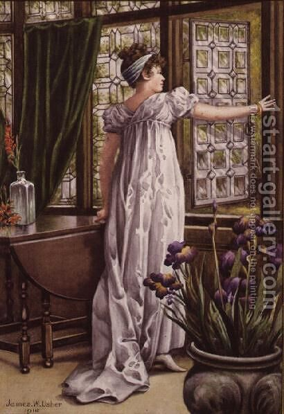 Anticipation, 1916 by James W. Usher - Reproduction Oil Painting