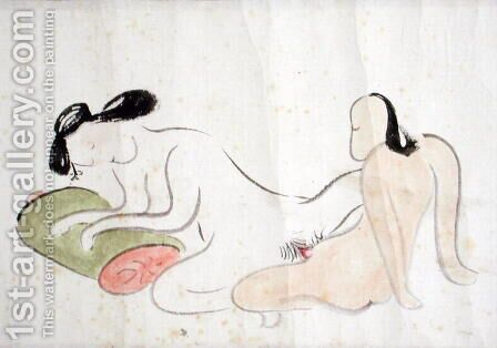 A Shunga 4 by Ike no Taiga - Reproduction Oil Painting