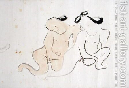 A Shunga 6 by Ike no Taiga - Reproduction Oil Painting