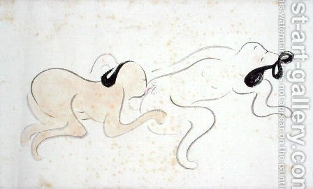 A Shunga 8 by Ike no Taiga - Reproduction Oil Painting
