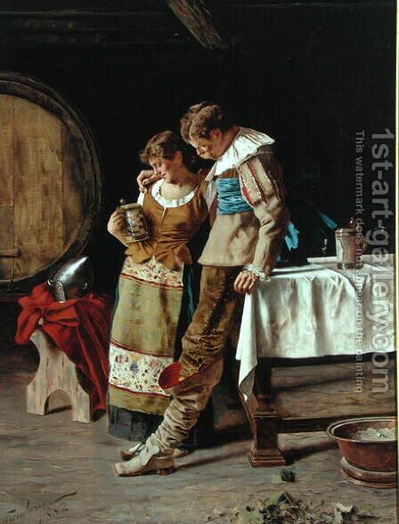 Declaration, 1882 by Arnaldo Tamburini - Reproduction Oil Painting