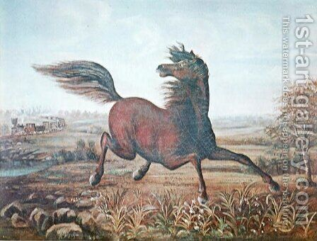 The Neigh of an Iron Horse by A Tapy - Reproduction Oil Painting