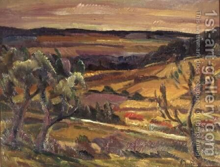 Autumn Landscape near dOrsay, France by Alexandrovitch Tarkhoff - Reproduction Oil Painting