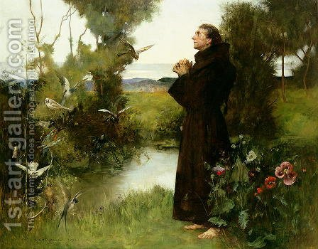 St. Francis, 1898 by Albert Chevallier Tayler - Reproduction Oil Painting