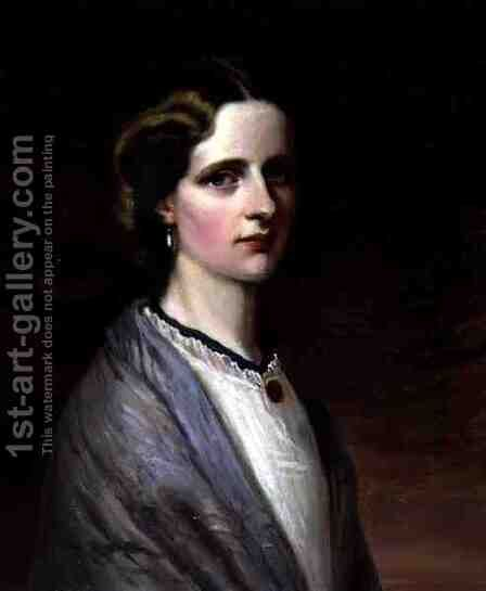 Portrait of Emily, Mrs Meynell Ingram by (after) Taylor, H. - Reproduction Oil Painting