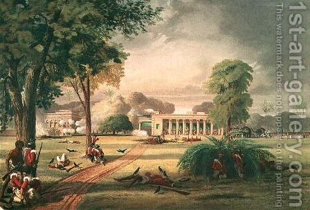 Defence of the Arrah House in 1857 by (after) Taylor, William - Reproduction Oil Painting
