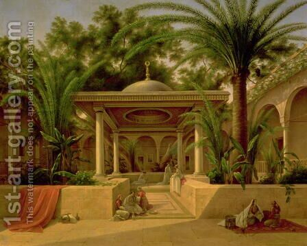 The Khabanija Fountain, Cairo, 1845 by Grigory Tchernezov - Reproduction Oil Painting