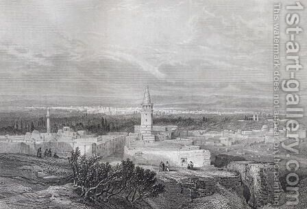 Damascus, engraved by J.H. Kernot, from The Imperial Bible Dictionary, published by Blackie and Son, c.1880s by (after) Telbin, William Lewis - Reproduction Oil Painting