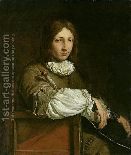 Portrait of a Young Man by Abraham van den Tempel - Reproduction Oil Painting