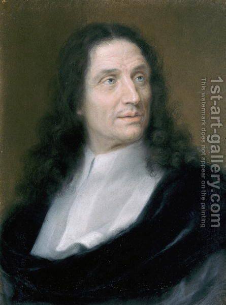 Portrait of Vincenzo Viviani 1622-1703 c.1690 by Domenico Tempesti - Reproduction Oil Painting