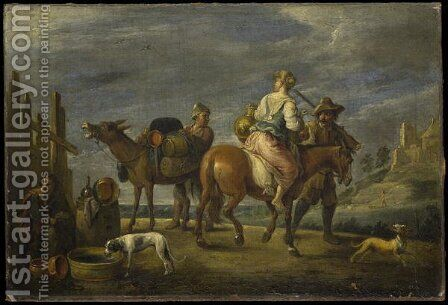 A Pasticcio by David The Younger Teniers - Reproduction Oil Painting