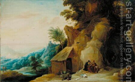 Saints Anthony and Paul in a Landscape, c.1636-38 by David The Younger Teniers - Reproduction Oil Painting