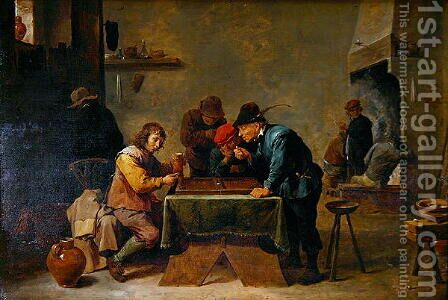 Backgammon Players, c.1640-45 by David The Younger Teniers - Reproduction Oil Painting