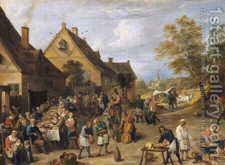 Country Banquet by David The Younger Teniers - Reproduction Oil Painting