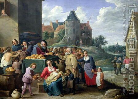 The Seven Acts of Mercy by David The Younger Teniers - Reproduction Oil Painting