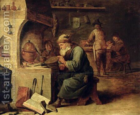 An Alchemist by David The Younger Teniers - Reproduction Oil Painting