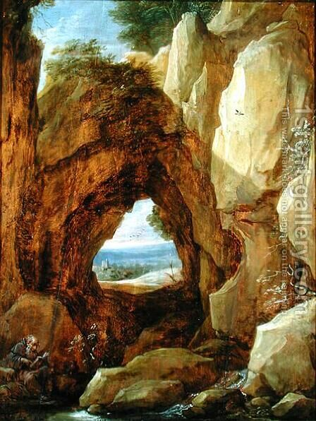 Interior of a Cave by David The Younger Teniers - Reproduction Oil Painting