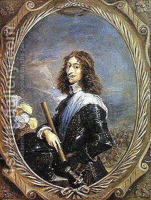 Portrait of Louis II 1621-86 Prince of Bourbon, future Grand Conde by David The Younger Teniers - Reproduction Oil Painting